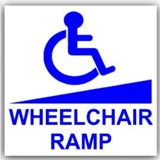 1 x Disabled Wheelchair Ramp-87mm Self Adhesive Vinyl Sticker-Disabled,Disability,Mobility Scooter Sign